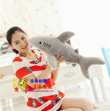 small size lovely new creative plush shark toy stuffed gray shark doll gift about 70cm
