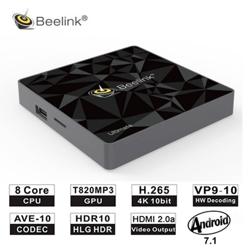 цена Beelink GT1 Ultimate TV Box 3G 32G Amlogic S912 Octa Core CPU DDR4 2.4G+5.8G Dual WiFi Android 7.1 Set Top Box Media Player