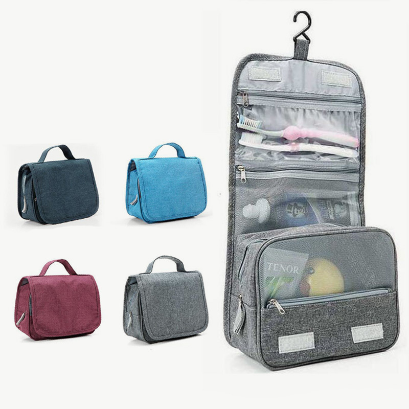 Portable Hanging Women Men Cosmetic Bag Waterproof Makeup Travel Organizer Beauty Make Up Bag Case Necessaries Cosmetics Storage