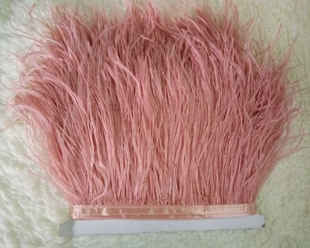 Selling Wholesale 10yards lot beautiful watermelon red ostrich feathers ribbon 10 15 cm 4 6 inch