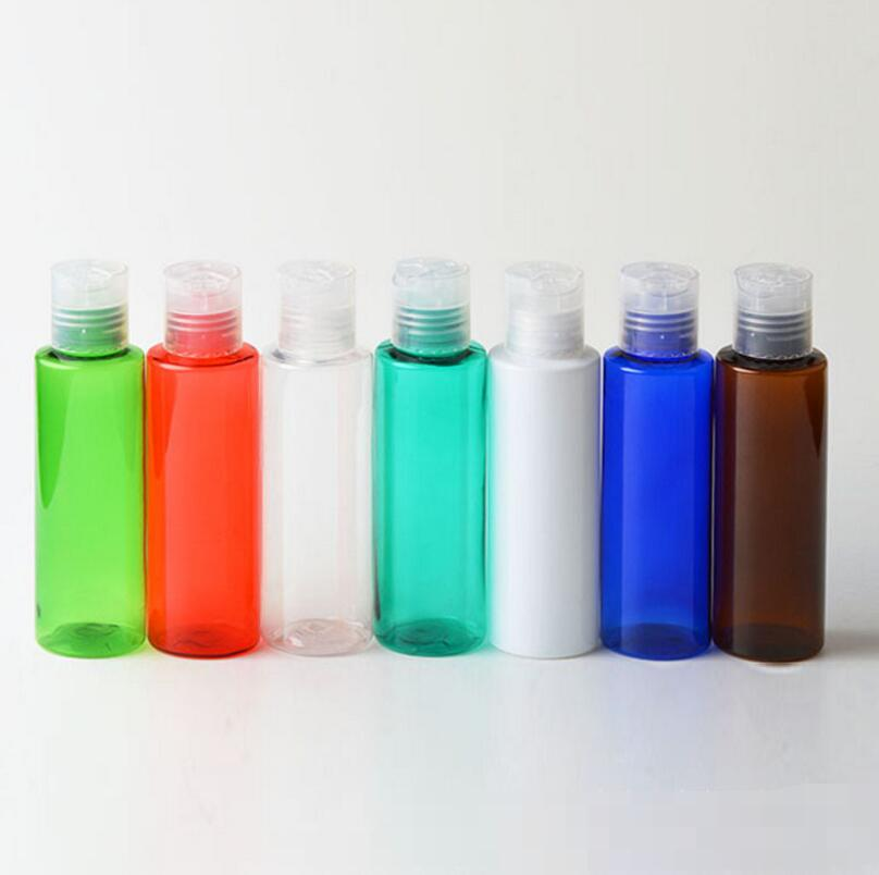 Wholesale 500pcs/lot 100ml High Quality Empty Multicolor PET Travel Lotion Refillable Bottle With Cap three 100ml