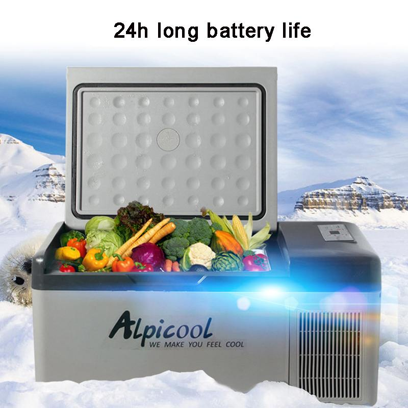 15L DC 12V 24V AC 220V Digital Display with APP Compressor Car Refrigerator Mini Fridge Freezer Driving Travel Fishing Outdoor