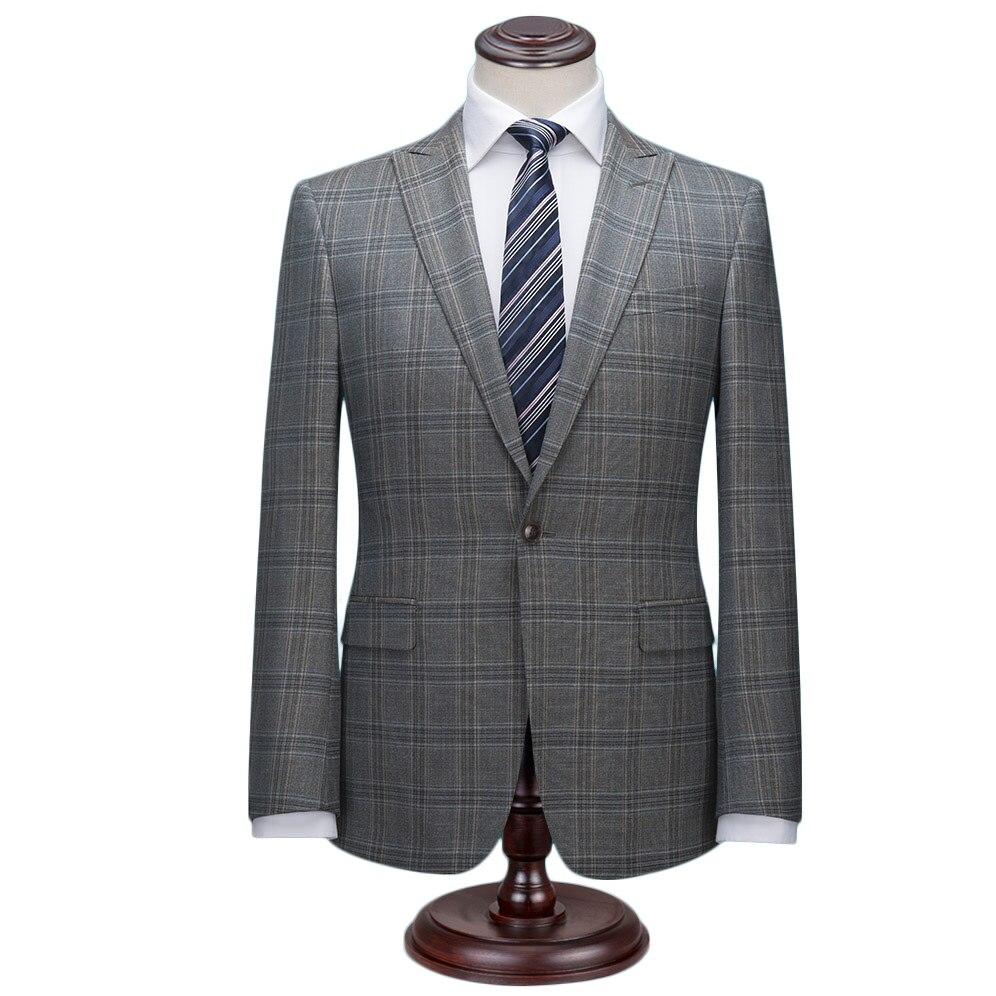 Herrenbekleidung & Zubehör GemäßIgt Navy Blau Glen Check Männer Anzüge Nach Maß Slim Fit Grau Plaid Hochzeit Anzüge Für Männer Anzug Prinz Von Wales überprüfen Windowpane Anzug Anzüge & Blazer