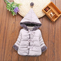 High Quality 2016 New Winter Clothes Kids Outerwear Baby Girls Down Parkas Fashion Snow Wear Children Hooded Pink clothing
