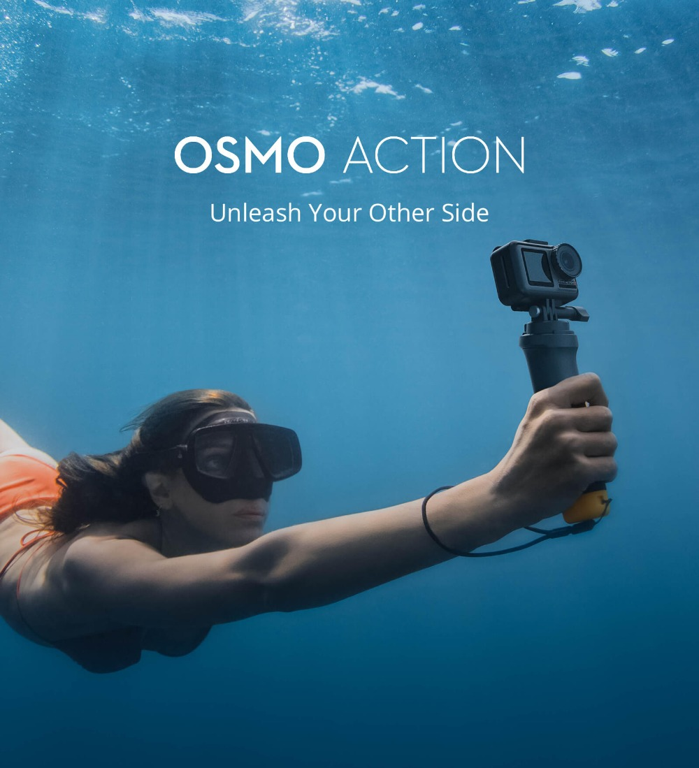 DJI Osmo Action Camera, Waterproof Dual Screens for Sports