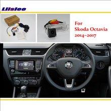цена на Back Up Reverse Parking Camera For Skoda Octavia 2014~2017 / RCA & Original Screen Compatible Rear View Camera