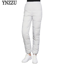 Solid New Winter Casual 90% White Duck Down Pants Women High Elastic Waist Thicken Warm Trousers Windproof Female AB125