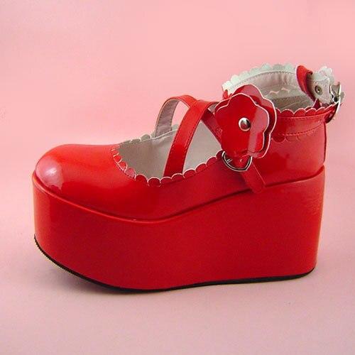 Princess sweet lolita gothic lolita shoes custom  lolita cos punk platform x9603  High Platform shoes princess sweet lolita gothic lolita shoes custom harajuku platform zipper style 9826 black