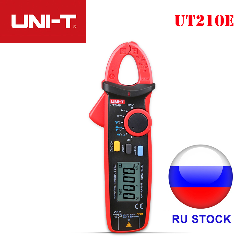 UNI-T True RMS Mini Digital Clamp UT210E Clamp Meter Digital AC/DC Current Voltage Auto Range VFC Capacitance NCV Multimeters