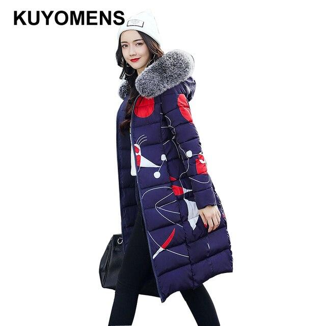 KUYOMENS Fashion Ladies Coats 2017 Winter Coat Women Parka Long Thick Warm Cotton Jacket Women Jackets And Coats