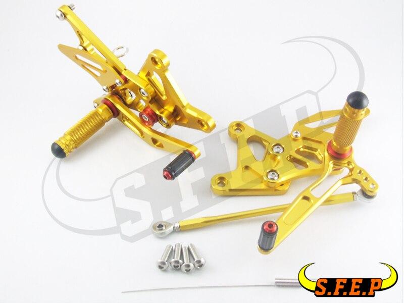 CNC Adjustable Rearsets Rear Sets foot pegs For Kawasaki ZX6R/ZX636 2005-2006