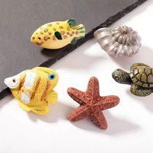 1 шт. мультяшная полимерная морская серия ручки и с ручками для детской комнаты ручки для ящика дверные ручки мебельная фурнитура