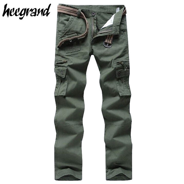 HEE GRAND Hot Men Cargo Pants 2017 Casual Loose Pants Men Military Style Trousers Multi-pockets Cargo Pants MKX534