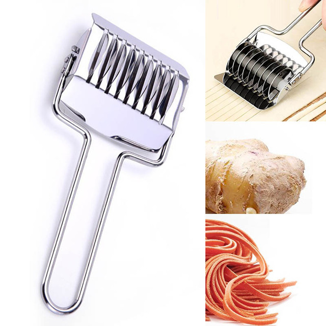 Pressing Machine  Non-slip Handle Kitchen Gadgets Spaetzle Makers Noodles Cut Knife 1PC Manual Section Shallot Cutter 1