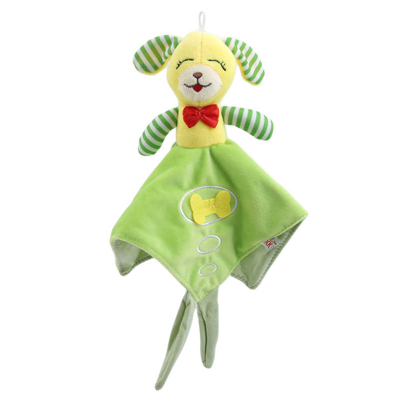 Cute Baby Stuffed Rattles Baby Nursery Rabbit Towel Children Educational Stroller Toys Doll Comforting Towels Soft Towel