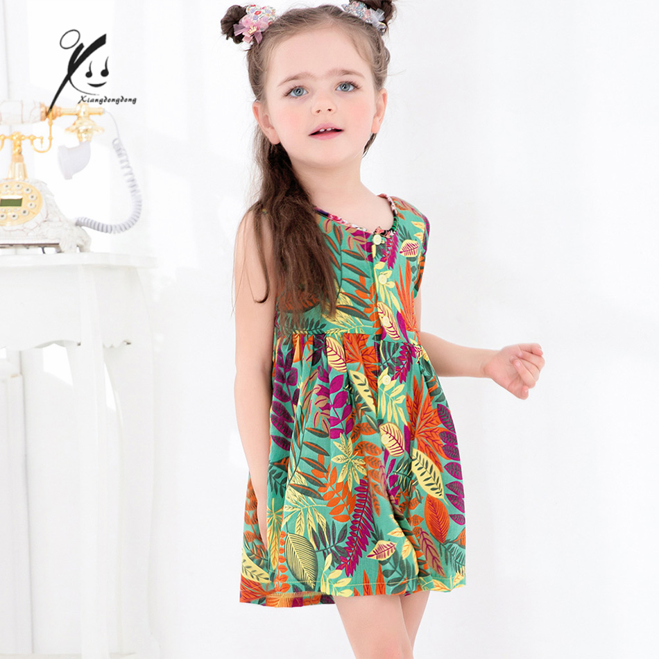 Summer Dress for girl Bohemian style children clothing Girls Dresses cozy roupas infantis menina 9M/12M/18M/24M/3T XDD-Q8008 2016 brand cute girls clothes summer children dresses plaid casual princess dress girls vestidos 10 old roupas infantis menina