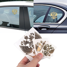 3D Metal Coat of Arms Russia Nickel Car Stickers Decals Russian Federation Eagle Emblem for Styling Laptop Sticker