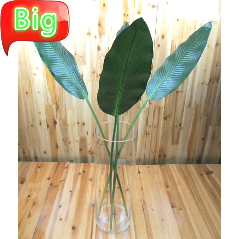 85-115cm Artificial Banana Leaves Big Flowers Green Plant Large Floral Wedding Home Decoration Materials