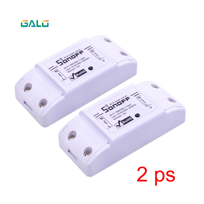 2pcs SONOFF Basic Smart Home Wifi Wireless Switch Remote Control Automation Relay Module For Apple Android Smartphones 10A 220V