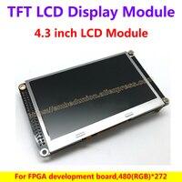 4.3 بوصة tft lcd وحدة العرض ل fpga مجلس التنمية ، 480 (rgb) * 272 tft مراقب مع 10 المصابيح