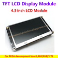4.3 inch TFT LCD display module for FPGA development board,480(RGB)*272 TFT monitor with 10 LEDs