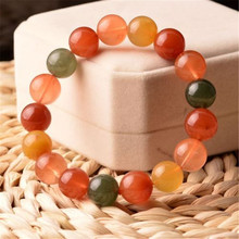 купить 13mm Genuine Natural Colorful Rutilated Quartz Gemstone Bracelets For Women Men Stretch Crystal Round Bead Bracelet по цене 2224.88 рублей