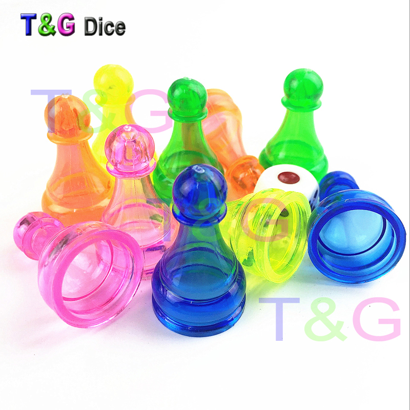 10pcs 34mm Clear Plastic Pawn Pieces For Board Game Poker Card Game And Other Games Accessories