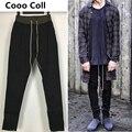 Calças Justin Bieber novos homens da Moda Magro Basculador Medo De deus calças Sweatpants calças compridas Black Grey Cooo kanye West Coll