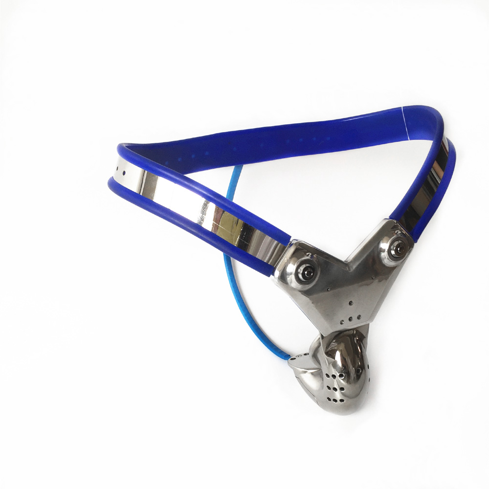 316 stainless steel male blue chastity belt cock cage bondage device penis cage men chastity belts