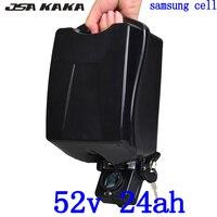 52 V 24AH elektrische fahrrad batterie 51 8 V 25AH ebike batterie 52 V Lithium-batterie verwenden samsung zelle für 48 V 500 W 750 W 1000 W ebike motor