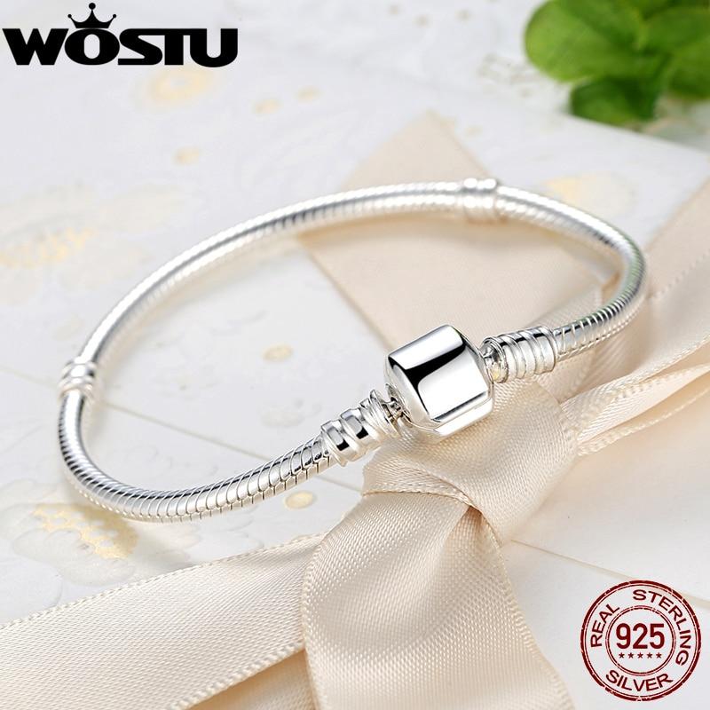 Lüks 100% 925 Sterling Gümüşü Charm Zəncirvari Qadınlar - Moda zərgərlik - Fotoqrafiya 3