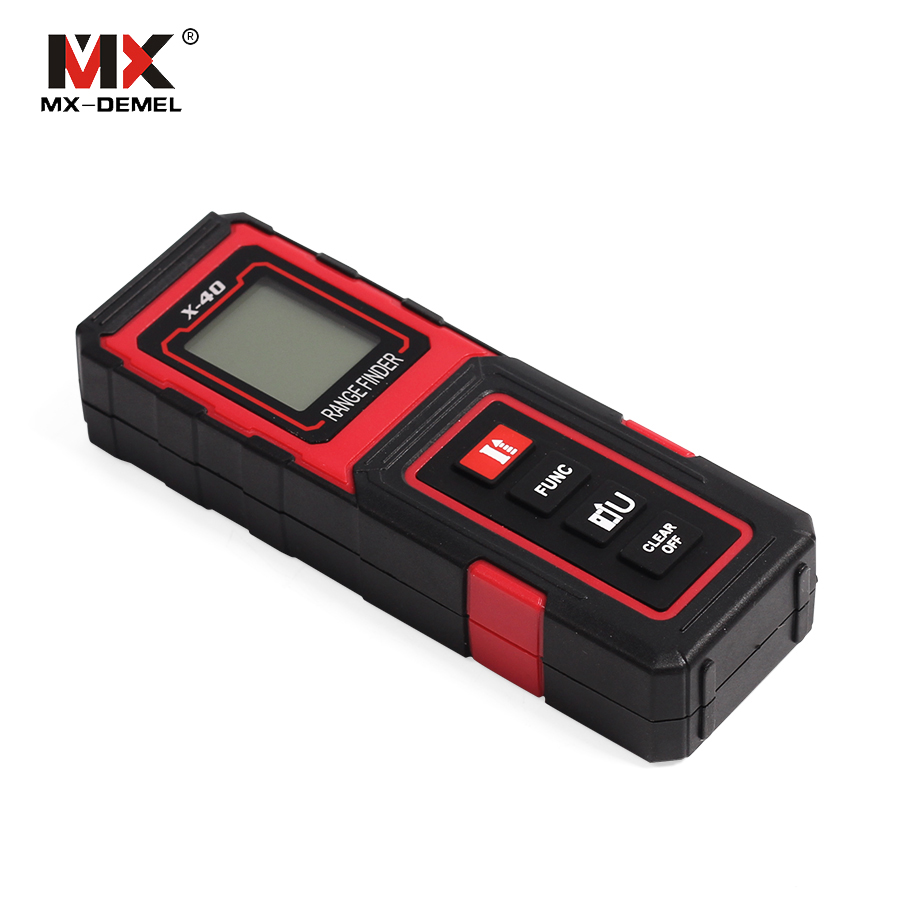 MX-DEMEL 40M Range Finder Laser X-40 Tape Measure Tester New Mini Handheld Rangefinder Laser Distance Meter Digital Instrument cp 40p 60p 80p 100p the new mini handheld laser range finder 40 m 100 meter distance meter