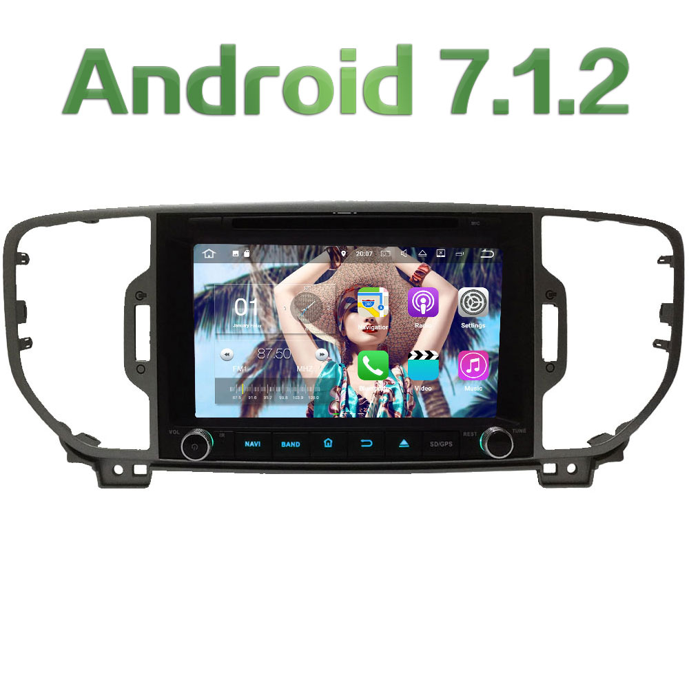 2GB RAM 3G 4G WIFI 8 Quad Core Android 7 1 2 DAB SWC Car DVD