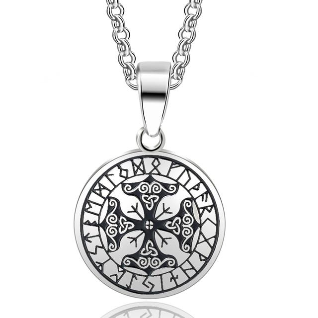 Abaicer Viking Protection Runes Talisman Pendant Necklace 316l