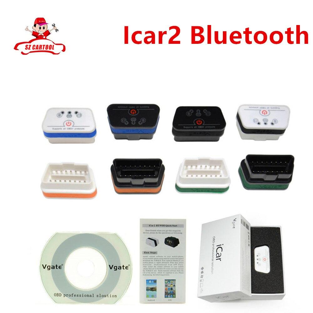 Prix pour 2016 Nouveau Top Vgate iCar2 Bluetooth ELM 327 Sur Android Pour plus OBD II De Voiture Vgate iCar 2 ELM327 Bluetooth OBD2 Diagnostic Scanner