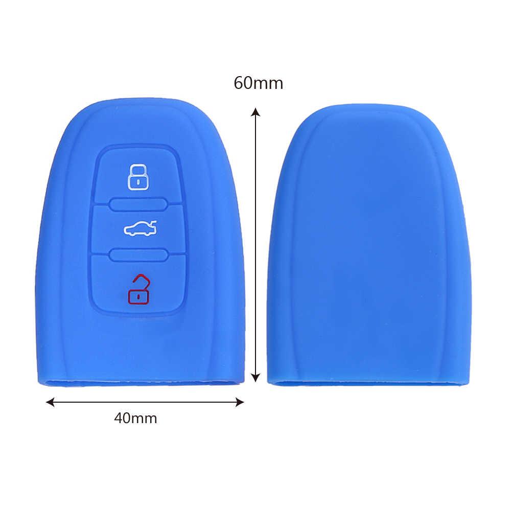 Autosleutel Case Shell Autosleutel Protector Sleutel Tas Cover Siliconen Vervanging 3 Knoppen voor Audi B9 R8 Q7 Q5 q3 A4 A6 Auto Accessoires