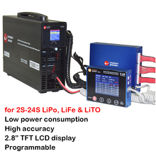 2S 24S Lithium LiPo Lifepo4 LTO BMS Smart 1.2A Balance Display 1500W 24S Charger Li ion Battery Solution Chargery BMS24T C10325