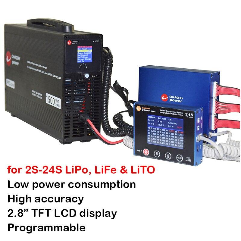 600A 2 S 24 S Lithium LiPo Lifepo4 LTO BMS Smart 1.2A Balans Display 1500W 24S Lader li ion Batterij Oplossing Chargery BMS24T-in Vervangende onderdelen en toebehoren van Consumentenelektronica op  Groep 1