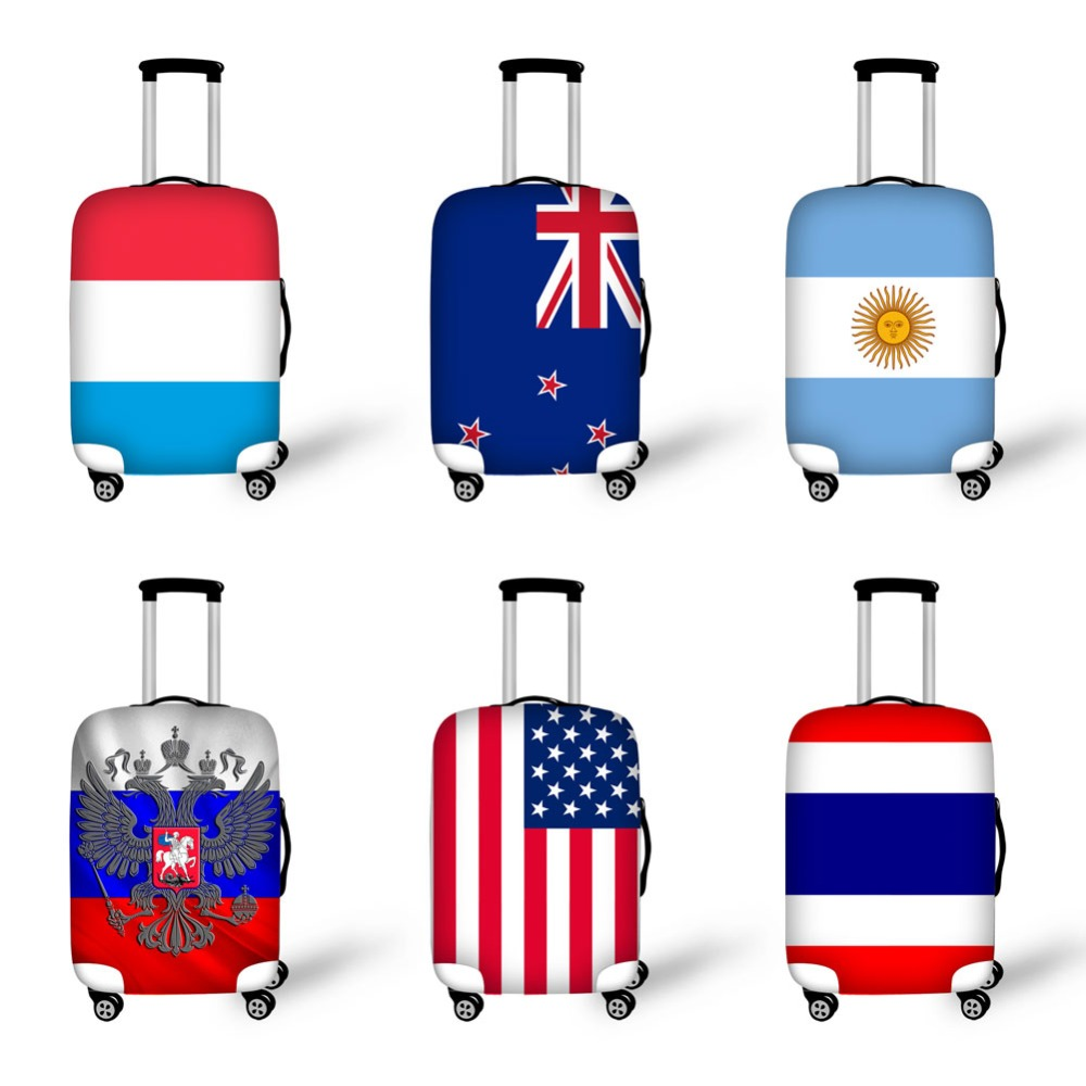 HD flags prints luggage cover Antifouling Dustproof Stretchable suitcase cover high elastic protective cover travel accessories