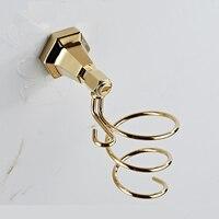 A1 European brass gold hotel hair dryer bathroom hair dryer duct wall perforated bathroom frame wx6201605