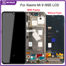 Witrigs AMOLED Xiao mi mi 9 lcd ekran dokunmatik ekranlı sayısallaştırıcı grup mi 9 9SE SE yedek