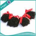 Гало наращивание волос вьющийся волос соткет человеческий волос переплетения вьющийся 6 шт. лот 100% натуральный натуральная человеческих бразильские волосы наращивание