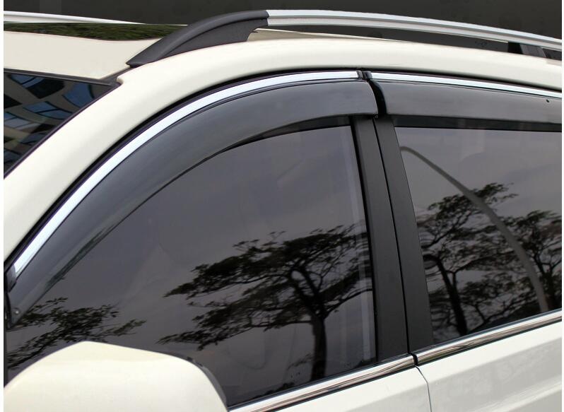 FIT FOR 2014 2015 2016 NISSAN QASHQAI SIDE WINDOW RAIN DEFLECTORS GUARD VISOR WEATHERSHIELDS DOOR SHADE WEATHER Car ACCESSORIES fit for 14 nissan rogue x trail t32 window rain deflectors visor weather shields lf