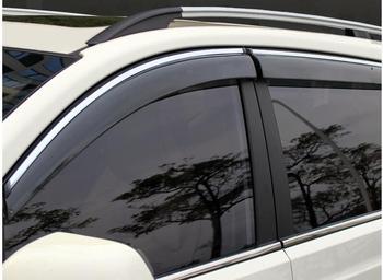 FIT FOR 2014 2015 2016  NISSAN QASHQAI SIDE WINDOW RAIN DEFLECTORS GUARD VISOR WEATHERSHIELDS DOOR SHADE WEATHER Car ACCESSORIES
