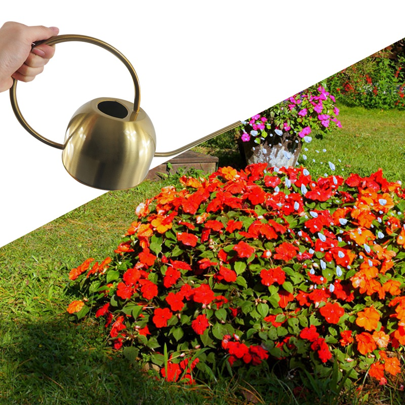 1500ml Watering Can For Indoor House Plants Long Spout Brushed Stainless Steel Watering Pot