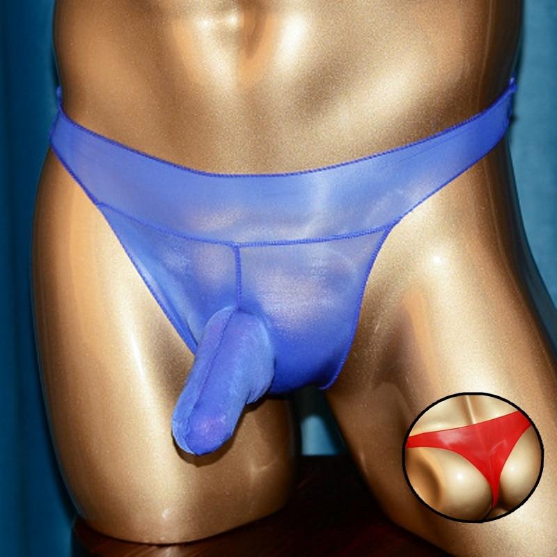 Sleeve Thong Sissy Oily Sexy Penis Jockstrap Penis Sleeve Men Thong Low Waist Gay Underwear Soft Mens Tanga Hombre Men's