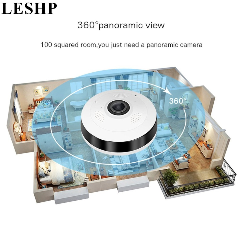 LESHP Professional VR Panorama Camera HD 960P Wireless WIFI 360 Degree IP Camera Home Indoor Security Surveillance Video Camera