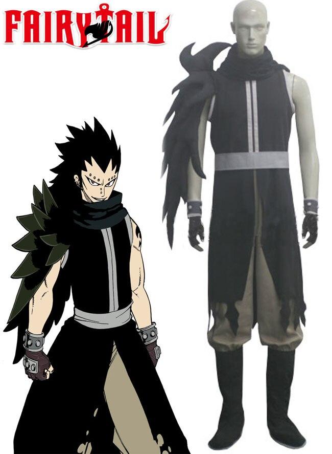 Gajeel Reitfox Costume - Fairy Tail Gajeel Reitfox Cosplay Black Mens Fairy Tail Cosplay Costume A012