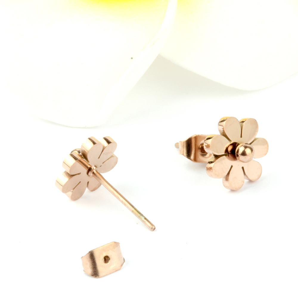 ZUUZ Корейский минималистский stud small нержавеющая сталь цвета розового золота милые серьги аксессуары для Женская мода Бижутерия