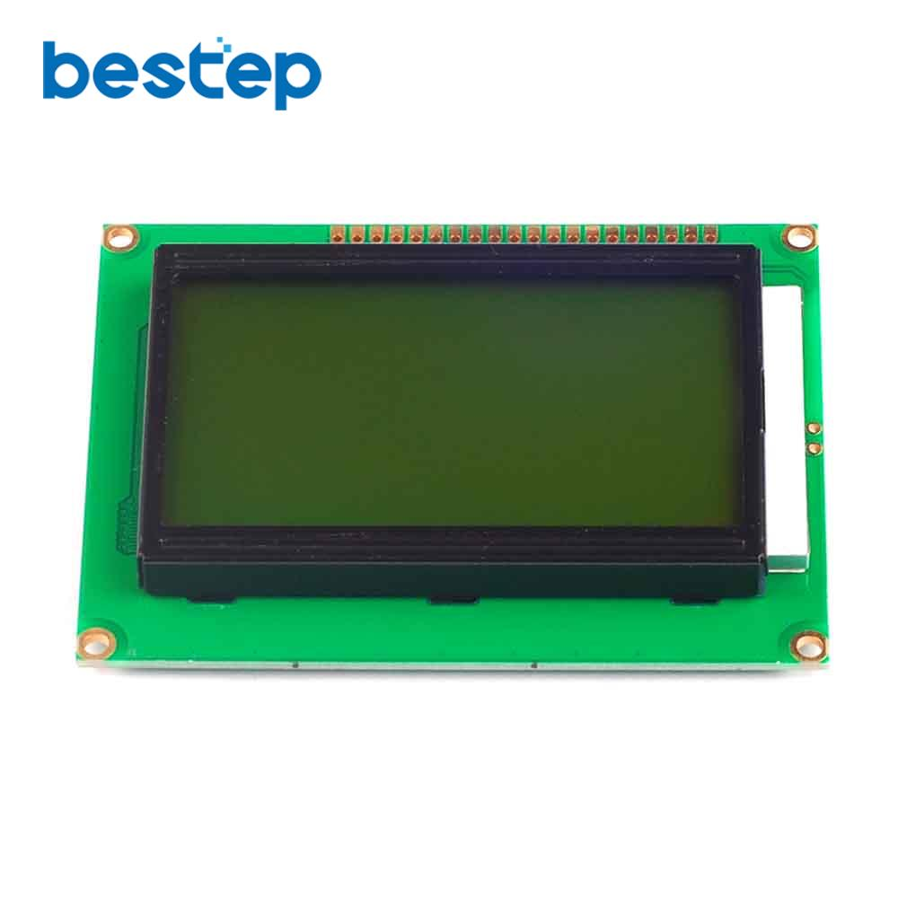 1PCS 12864 128x64 Dots Graphic Yellow Green Color Backlight LCD Display Module ST7920 Controller Free Shipping1PCS 12864 128x64 Dots Graphic Yellow Green Color Backlight LCD Display Module ST7920 Controller Free Shipping
